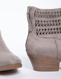 Crochet Suede Booties