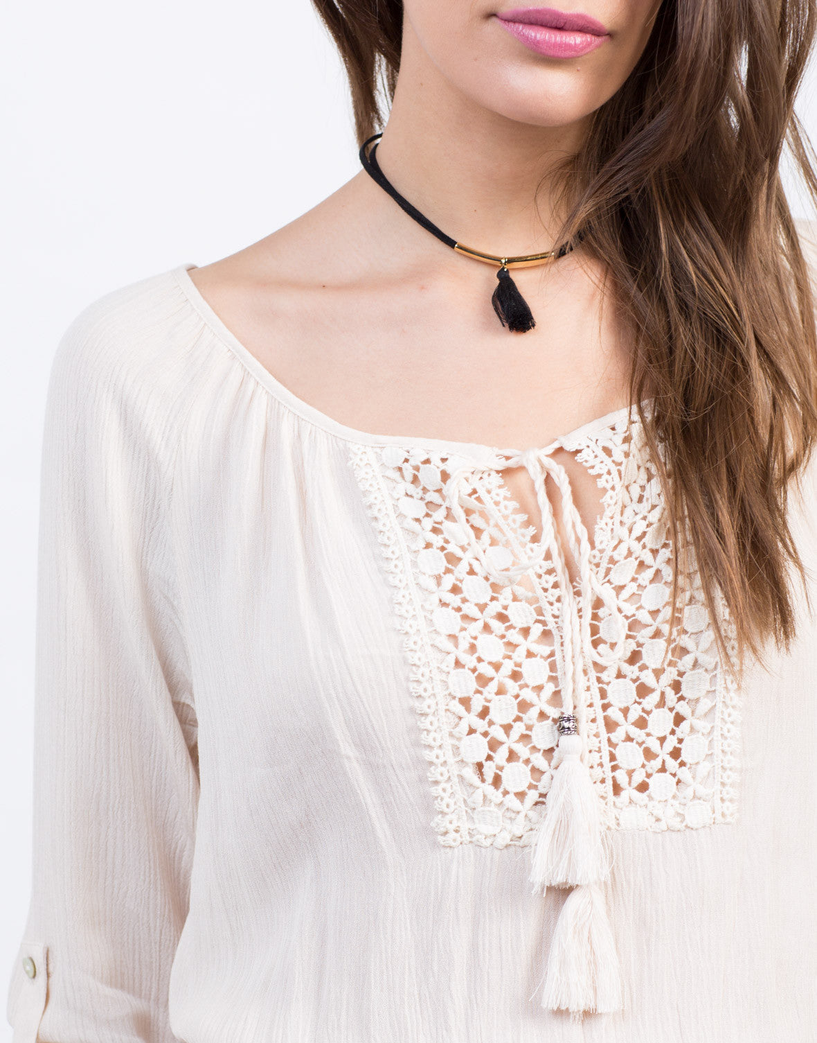 Detail of Crochet Tassel Romper