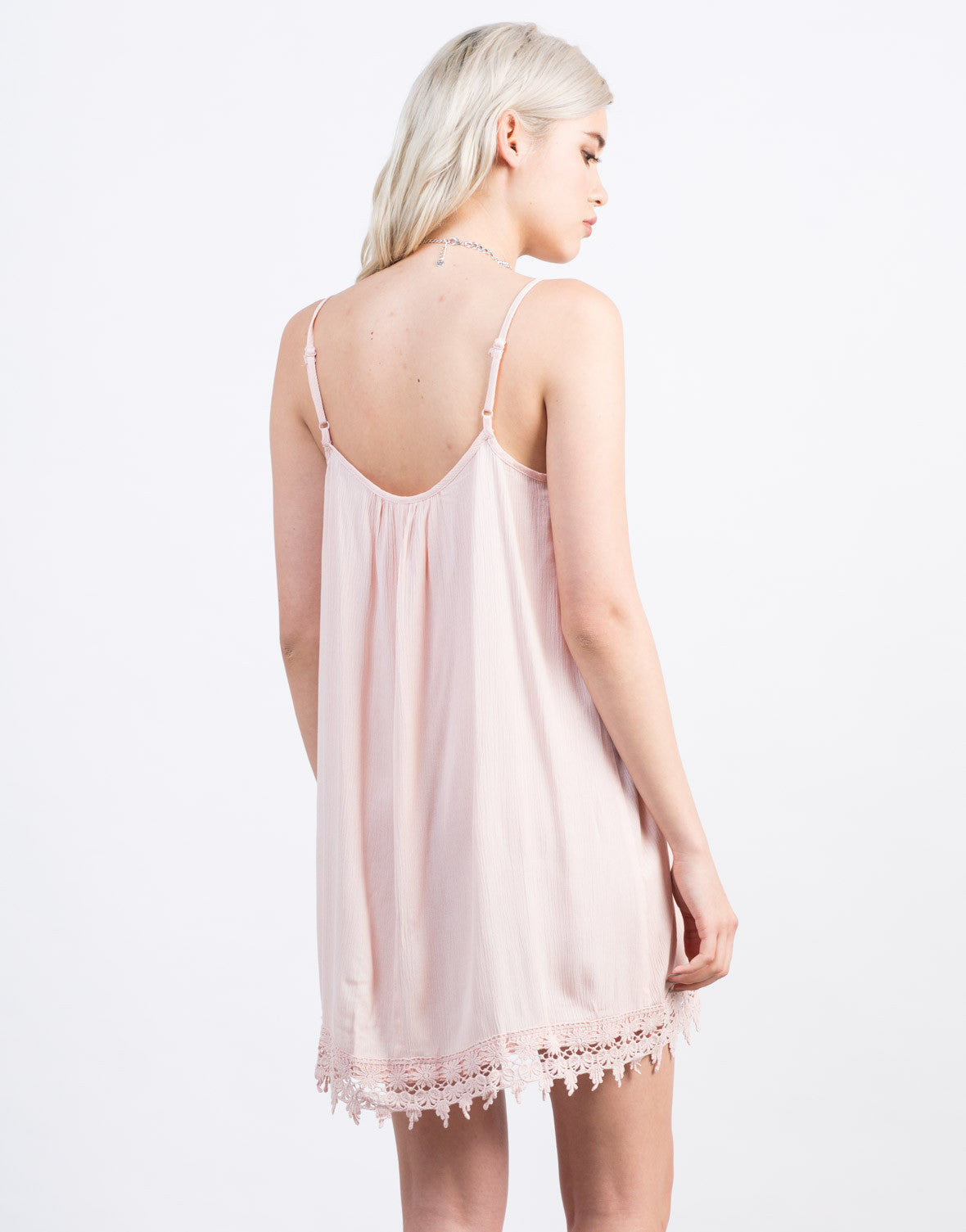 Back View of Crochet Tunic Dress