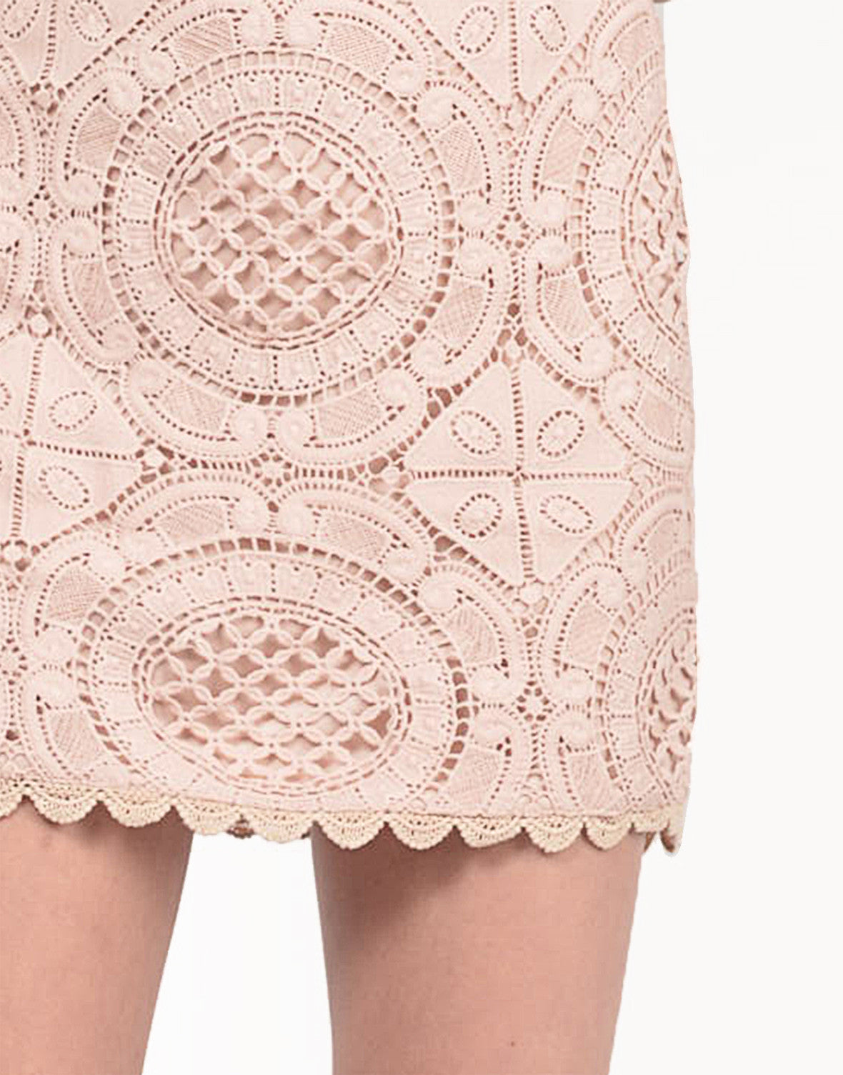 Detail of Crochet Boxy Dress
