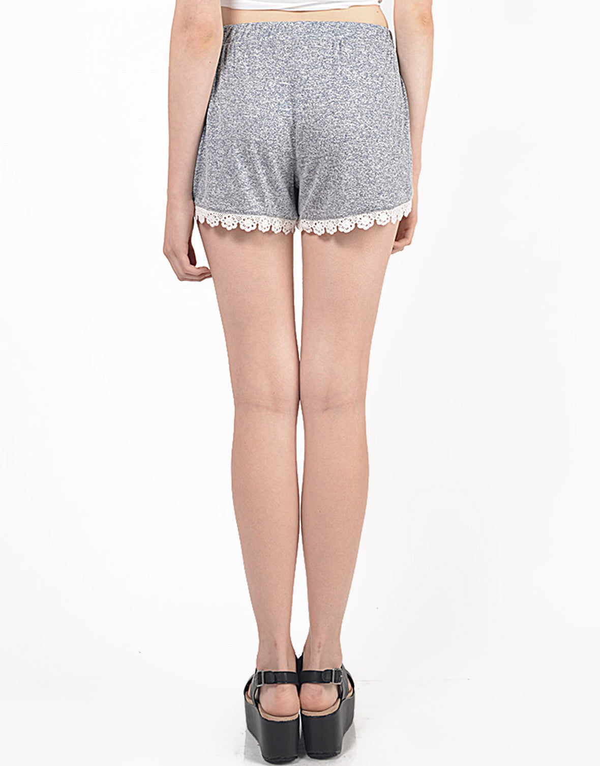 Back View of Crochet Lounge Shorts