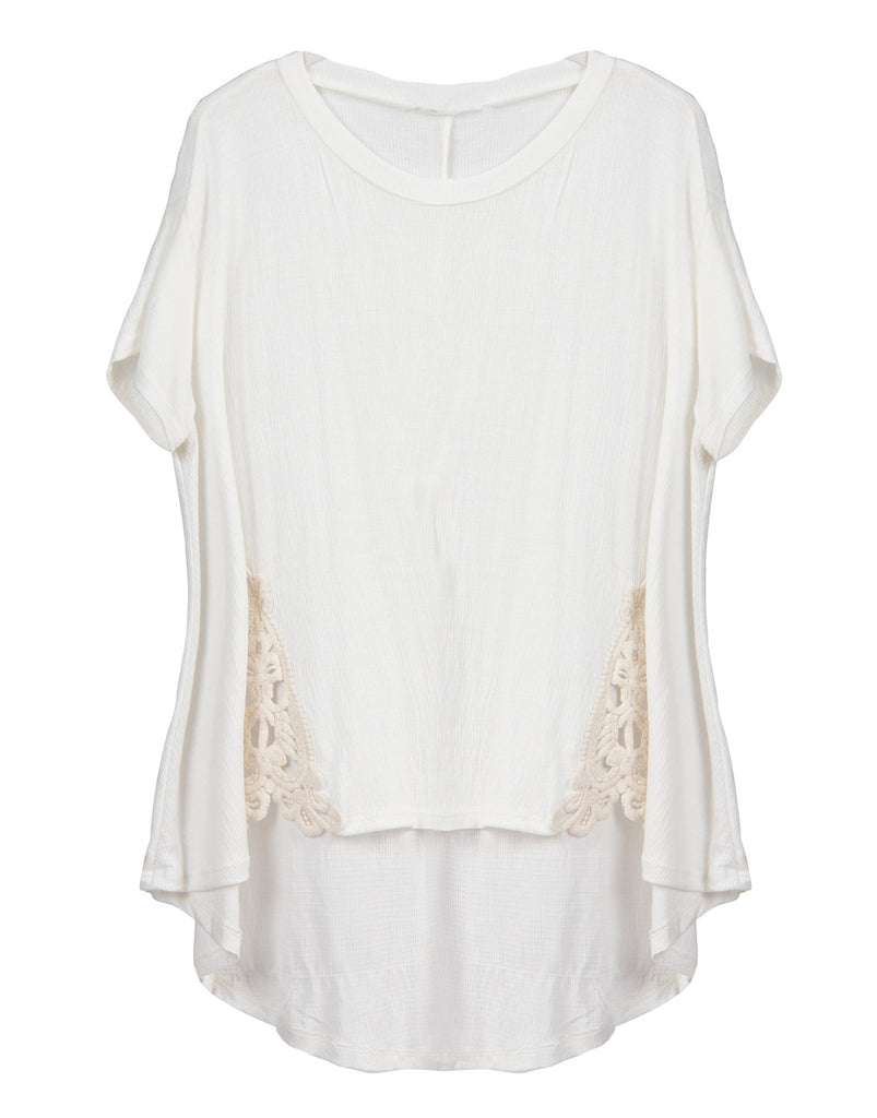Crochet Panel Trapeze Tee - 2020AVE