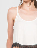Detail of Crochet Trim Cropped Top