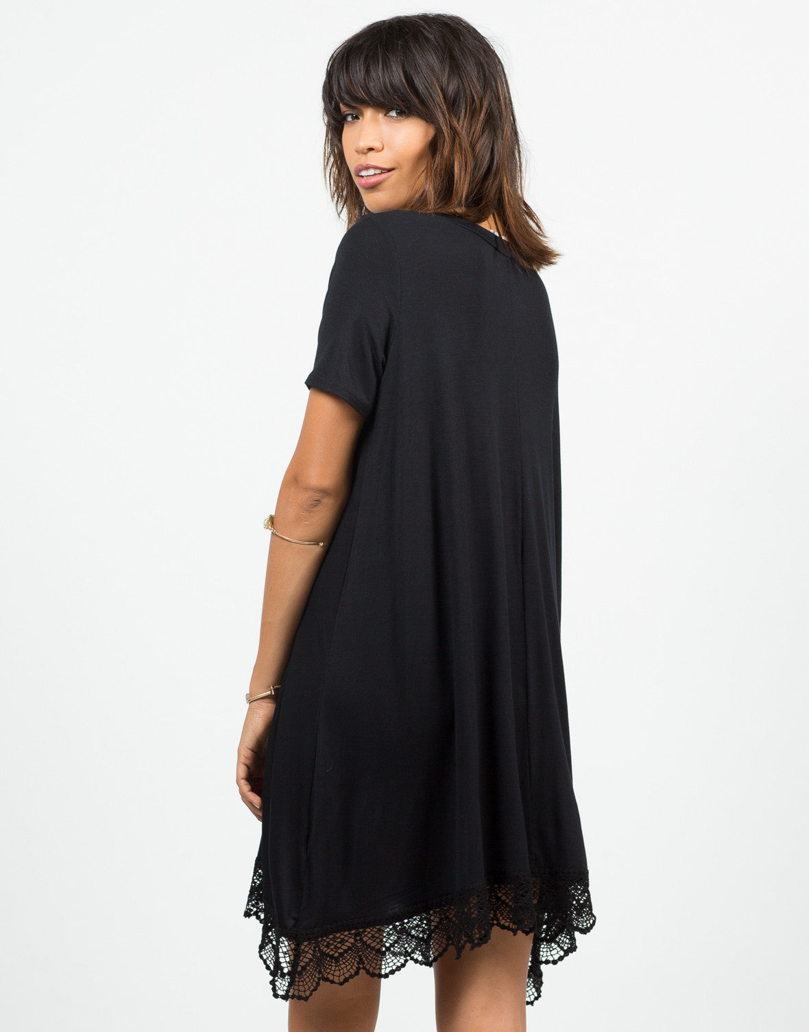 Back View of Crochet T-Shirt Dress