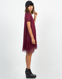 Side View of Crochet T-Shirt Dress