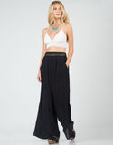 Front View of Crochet Wide Leg Pants