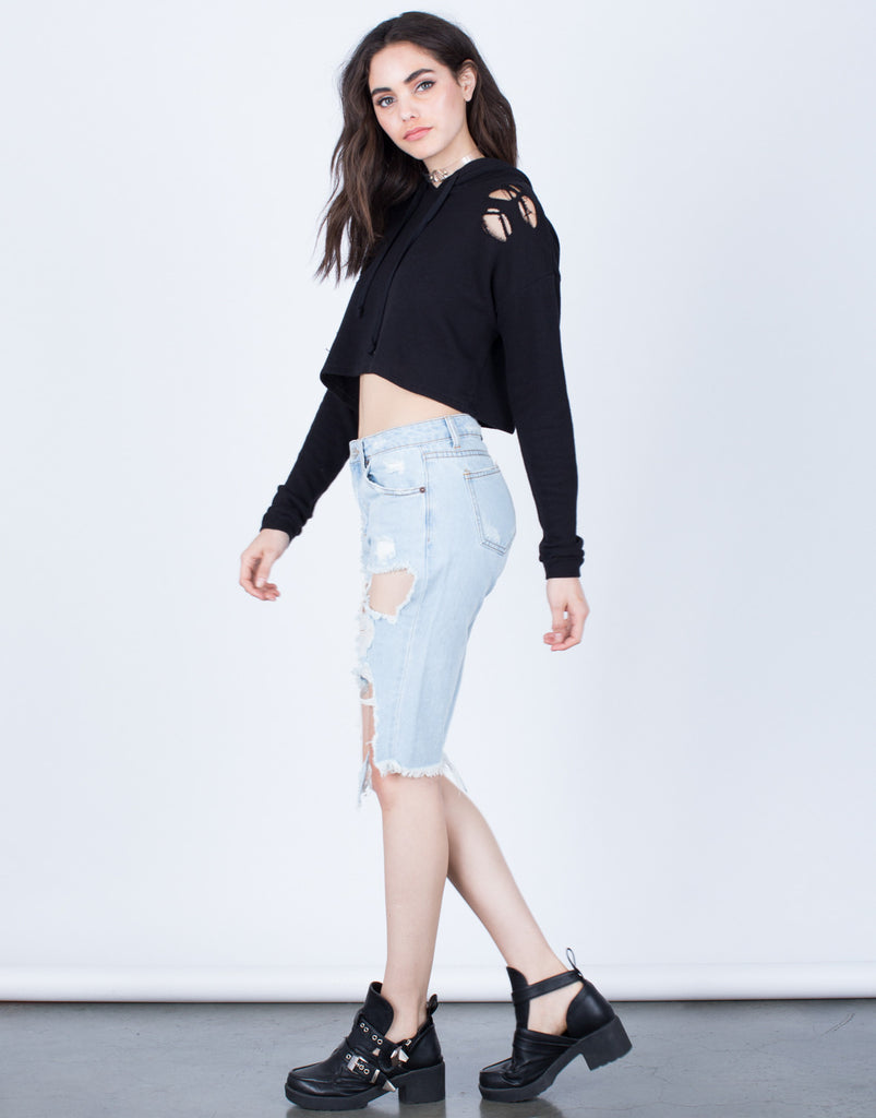 Cropped Hoodie Sweater - 2020AVE
