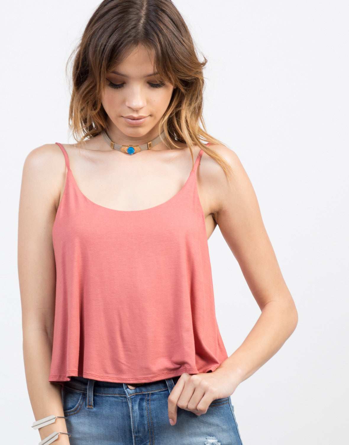 Detail of Cropped Jersey Cami