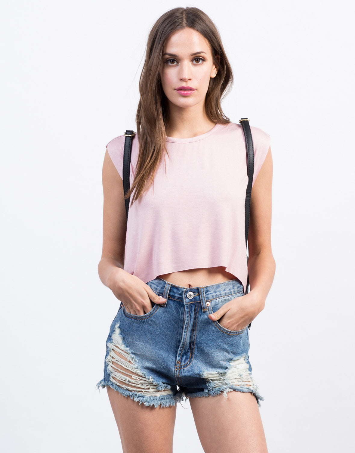 Front View of Cropped Swing Top