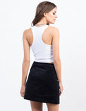 Back View of Cropped Rib Top