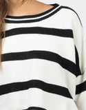 Detail of Cropped Striped Sweater