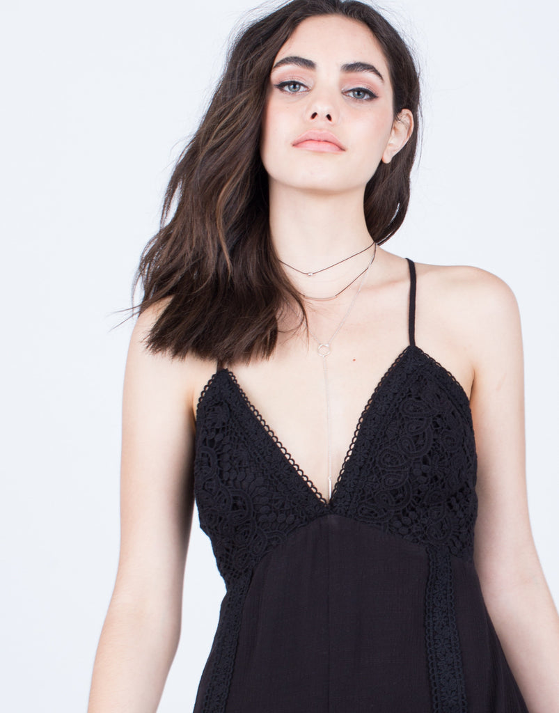 Cross Back Crochet Romper - 2020AVE