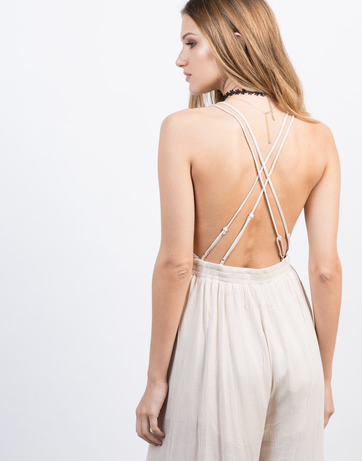 Detail of Cross Back Jumpsuit