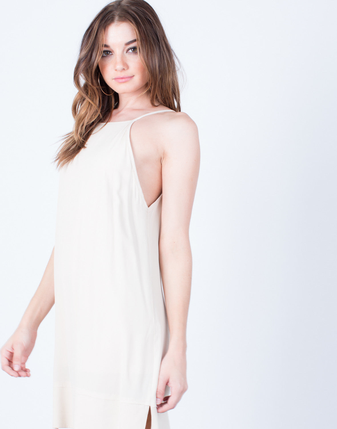 Detail of Cross Back Slip Dress