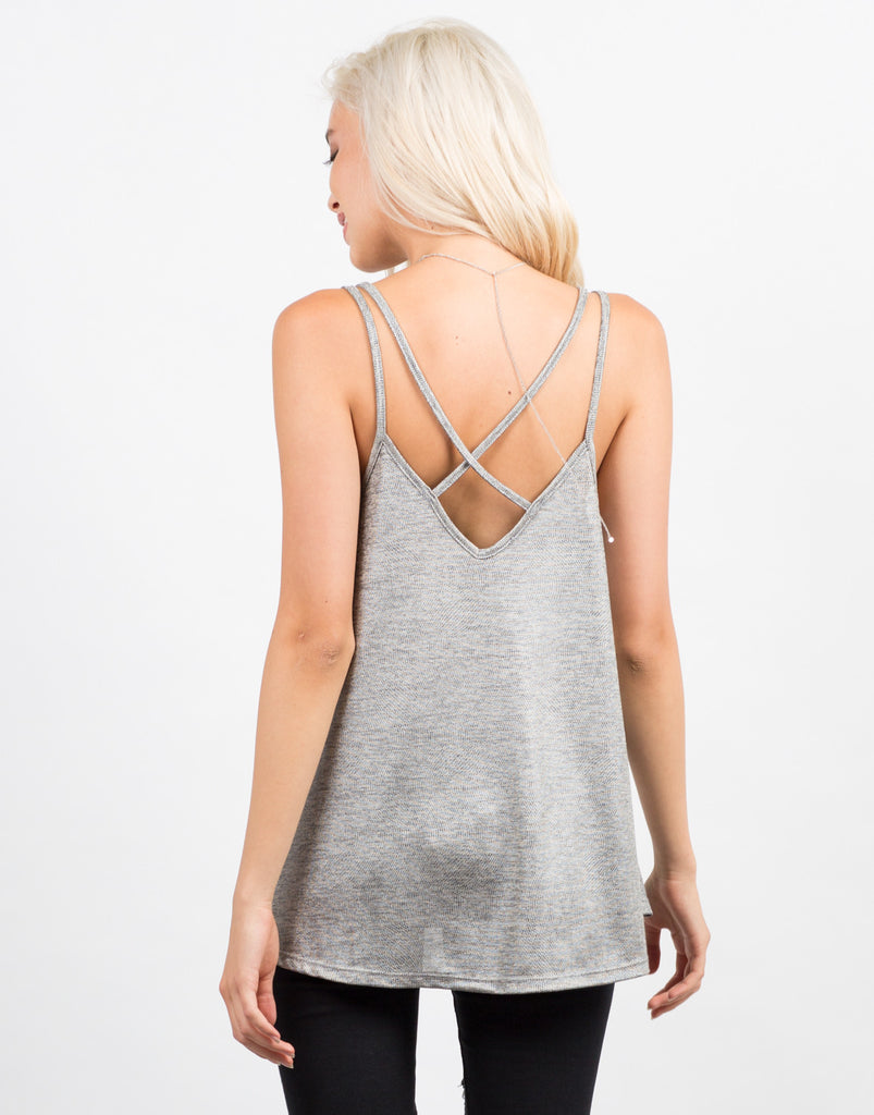Cross Back Flare Cami - 2020AVE