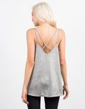 Back View of Cross Back Flare Cami