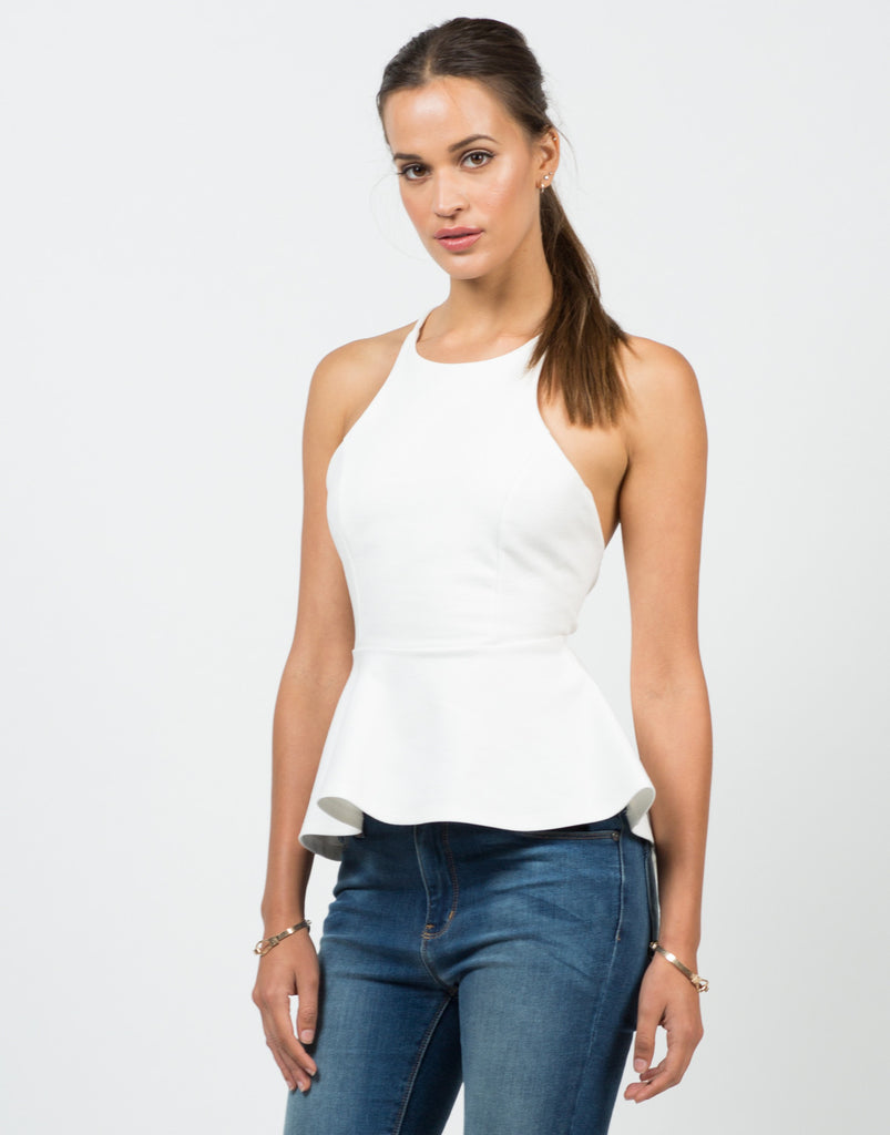 Cross Back Peplum Top - 2020AVE