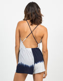 Back View of Cross Back Tie-Dye Romper