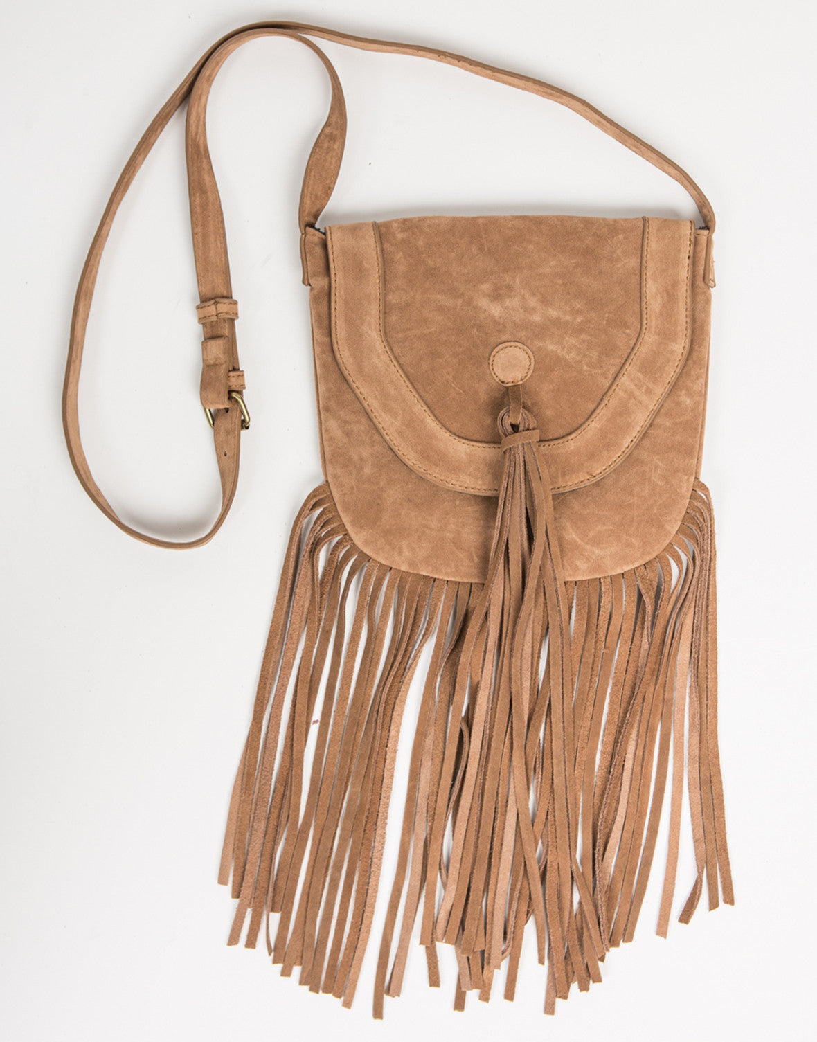 Front View of Crossbody Native Fringe Bag