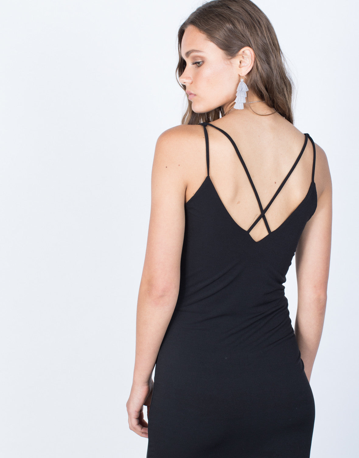 Detail of Crossed in Bodycon Dress