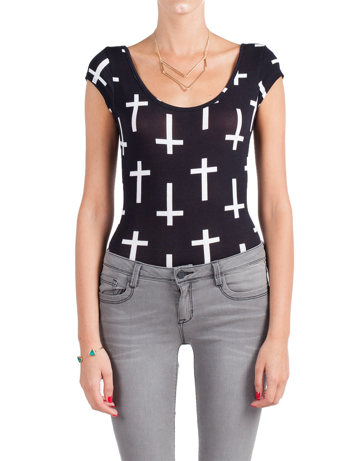 Crosses Bodysuit - Large - 2020AVE