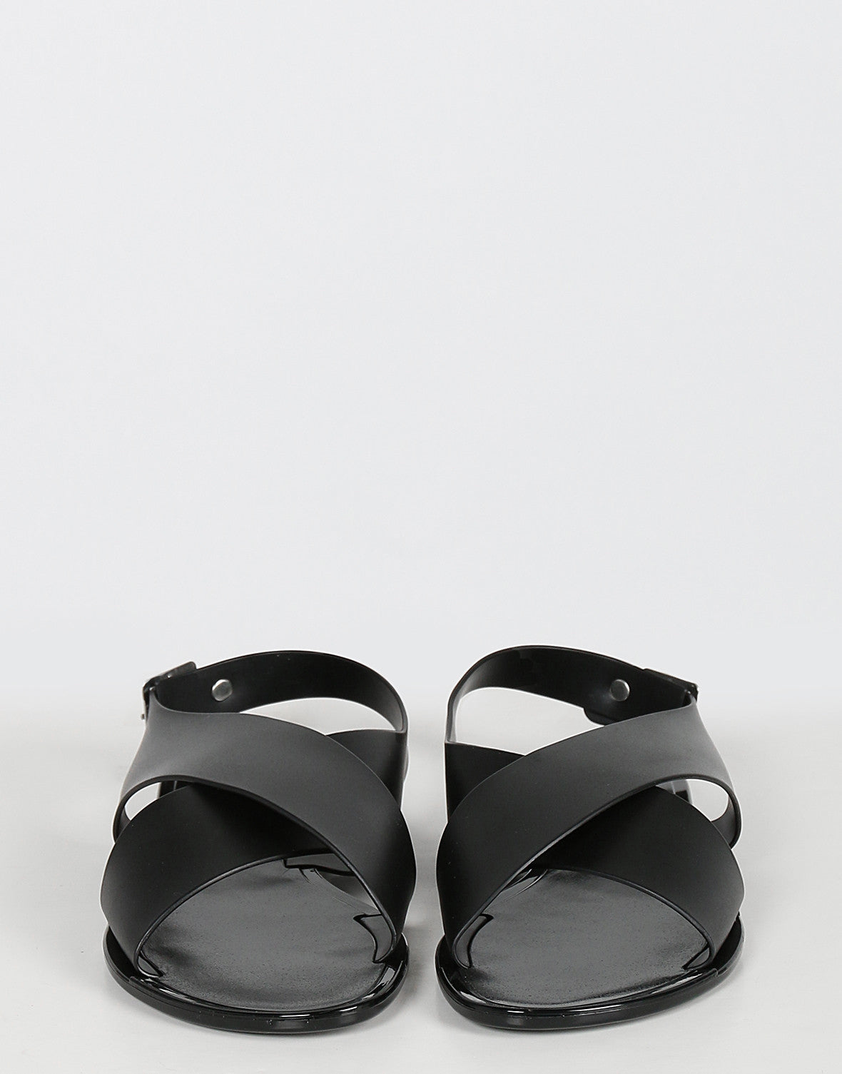 Crossover Banded Jelly Sandals