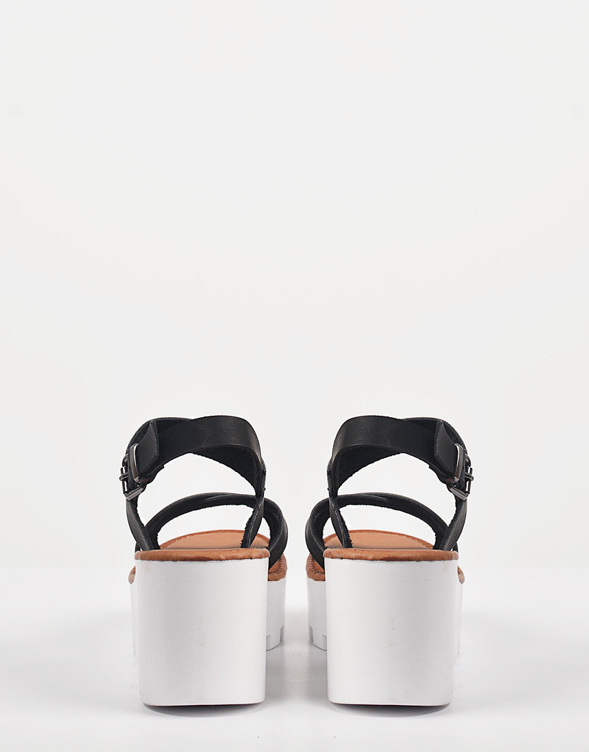 Back View of Crossover Slingback Wedge Sandals
