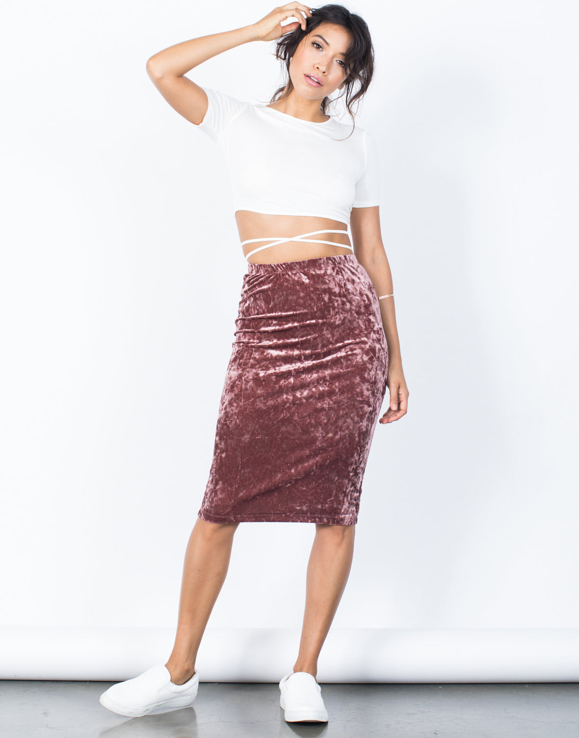 Crushin' on Velvet Skirt - 2020AVE
