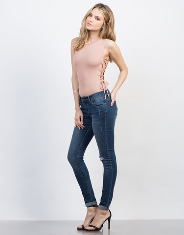 Cuff It Skinny Jeans - 2020AVE