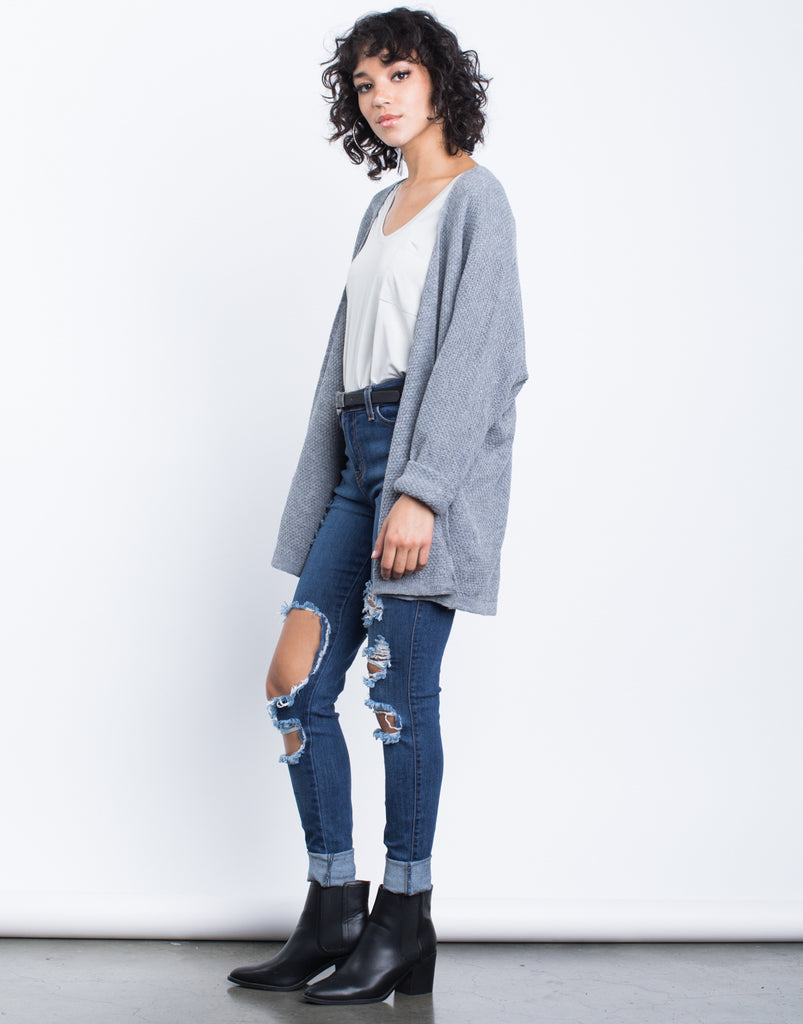 Cuffed Sleeves Cardigan - 2020AVE