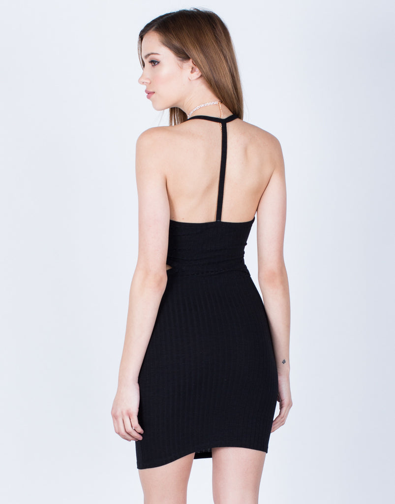 Cut it Out Ribbed Dress - 2020AVE
