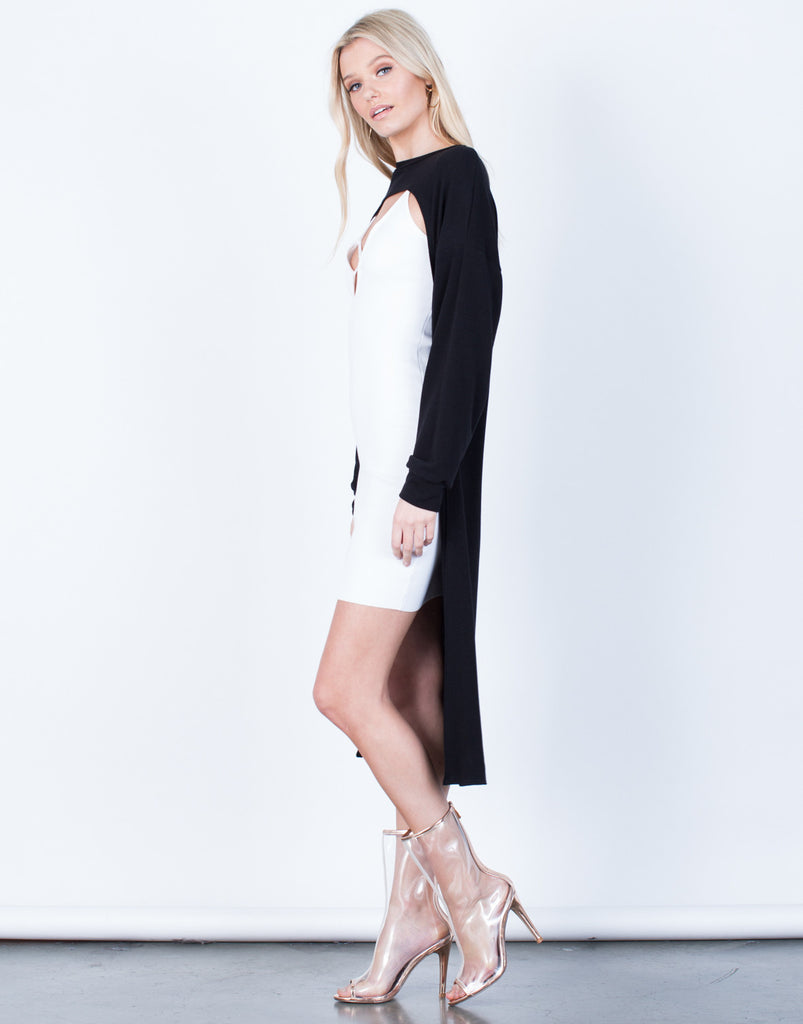Side View of Cut it Out Tunic
