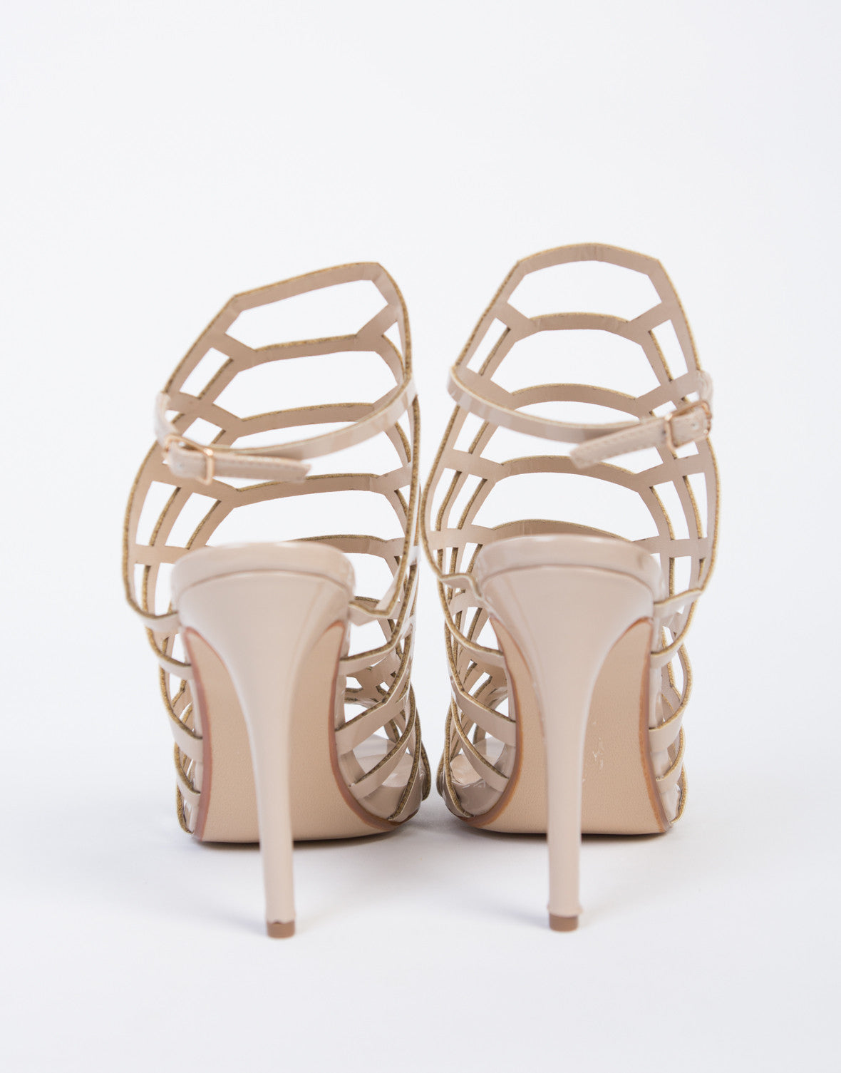 Cut Out Caged Heels