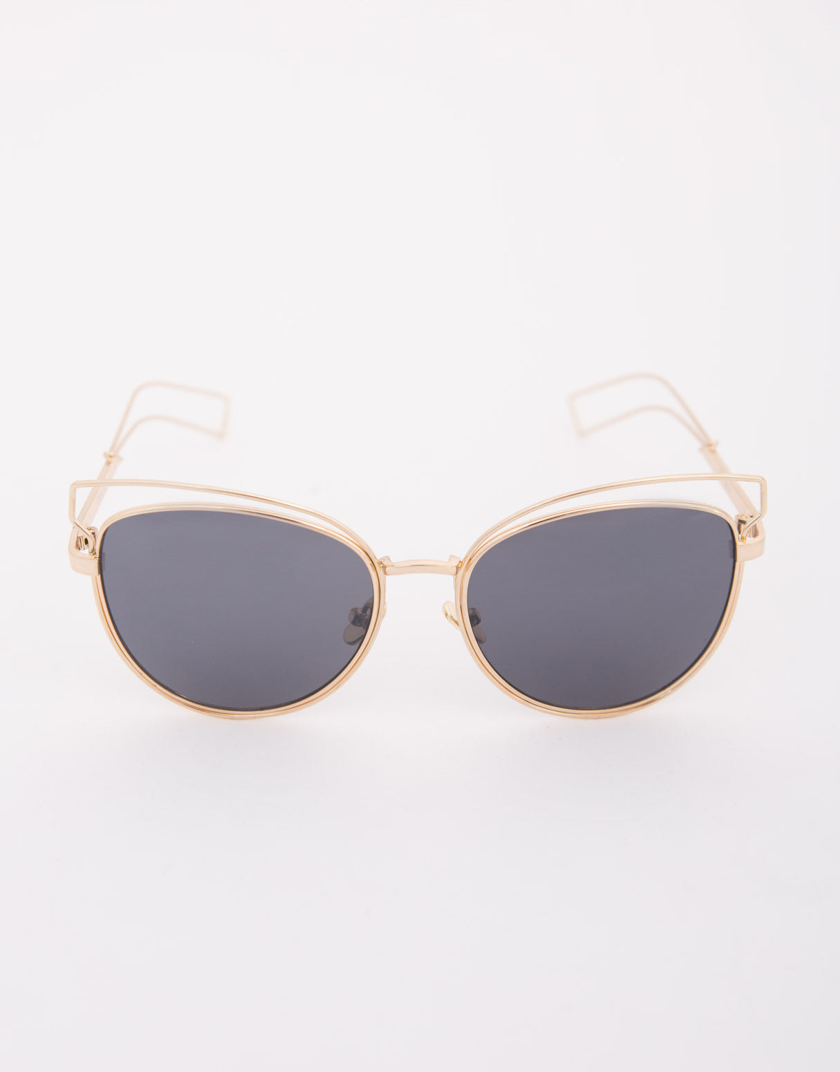 Cut Out Mirrored Sunglasses