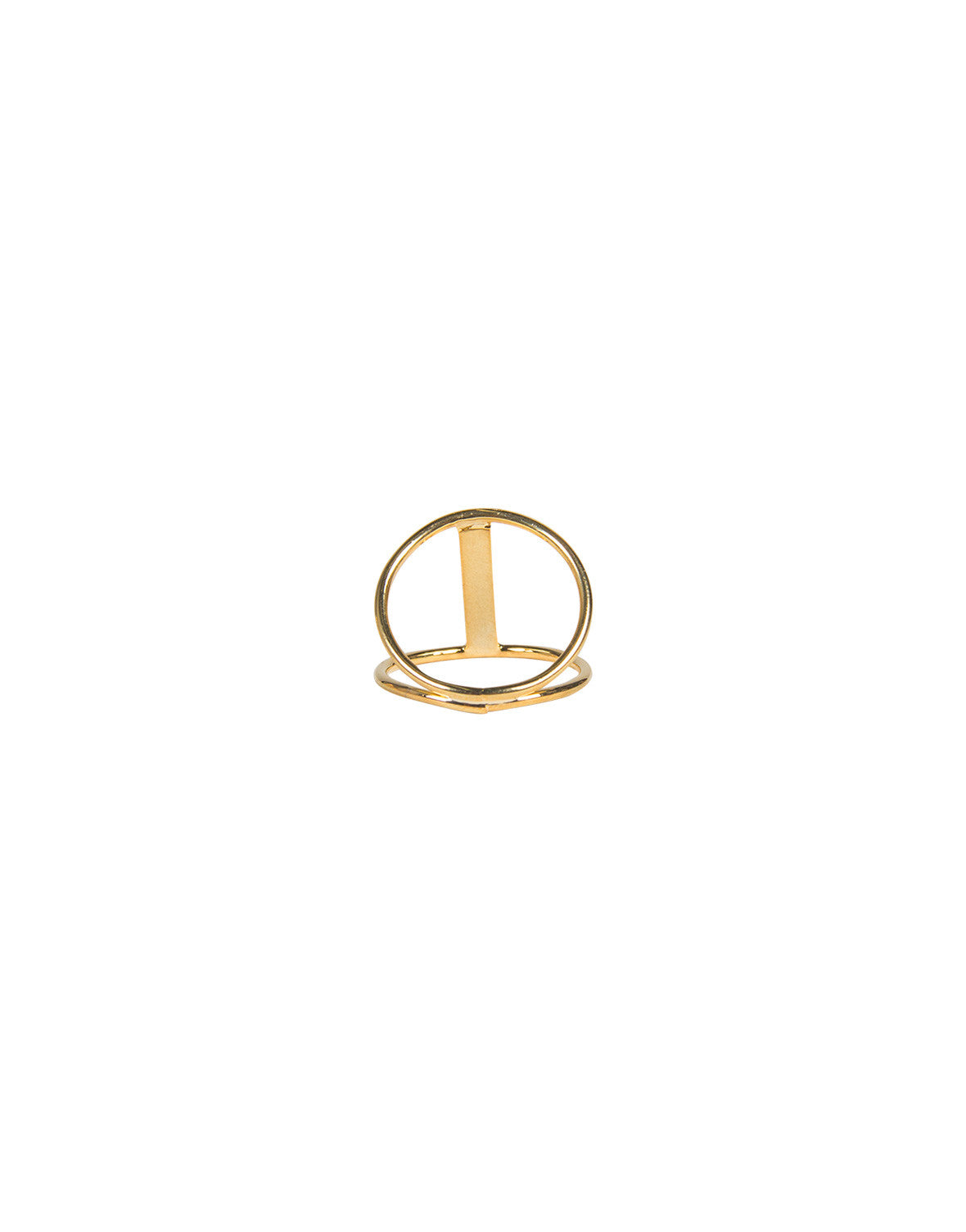 Cut Out Bar Knuckle Ring - Gold - Ana GR 7567-Gold