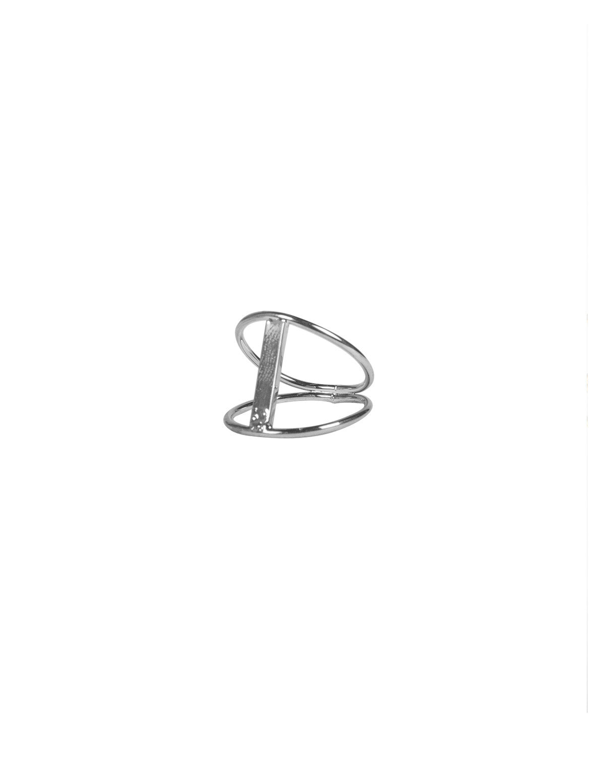 Cut Out Bar Knuckle Ring - Silver - Ana GR 7567-Silver