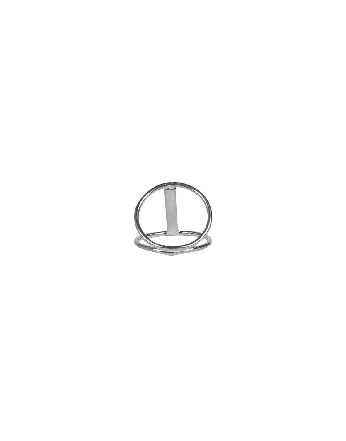 Cut Out Bar Ring - Silver - 2020AVE