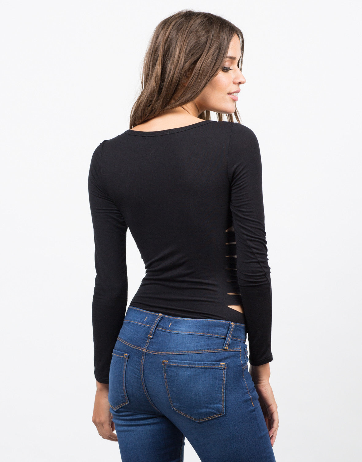 Back View of Cut Out Bodysuit