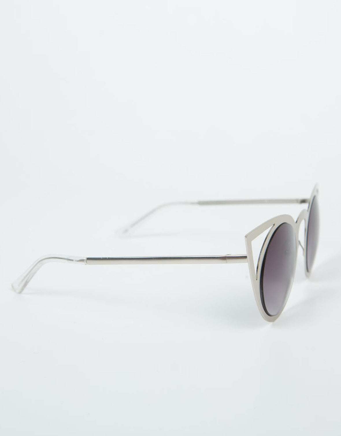 Side View of Cut Out Cat Eye Sunnies