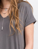 Detail of Cut Out Draped Tee Dress