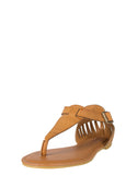 Cut Out Fang Sandals - Tan Bamboo Laguna-45 Tan