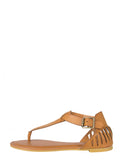 Cut Out Fang Sandals - Tan - 2020AVE