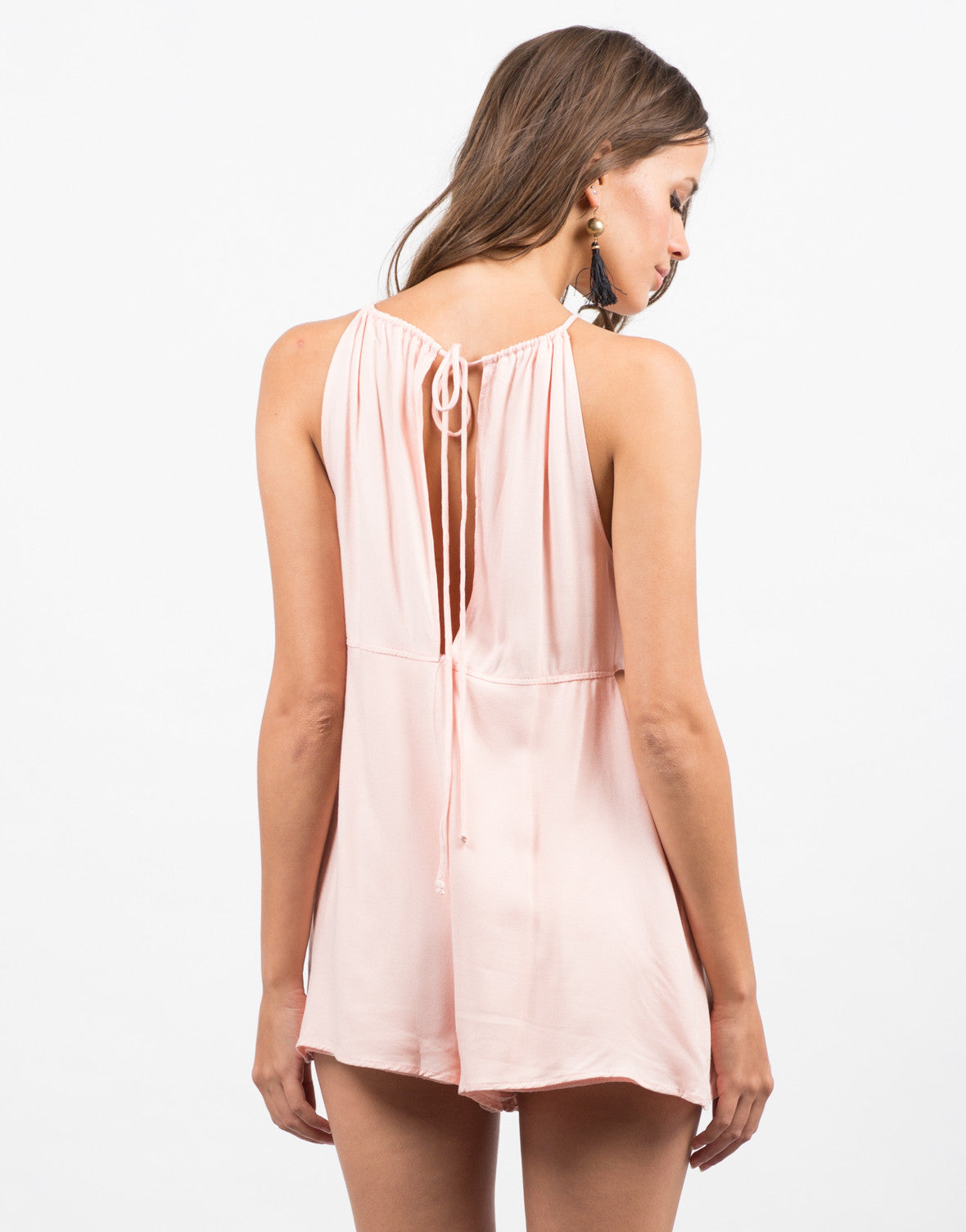 Cut Out Halter Romper - 2020AVE