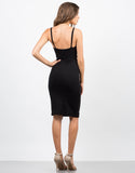 Back View of Cut Out Jersey Dress