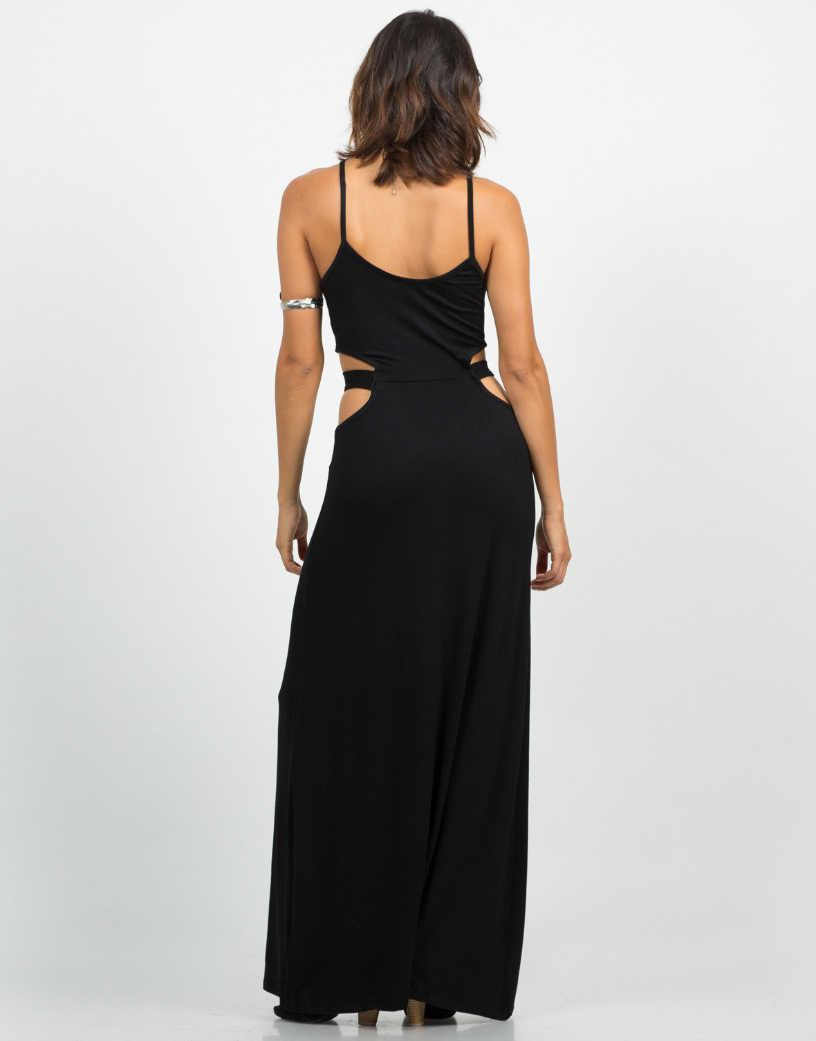 Back View of Cut Out Maxi Dress