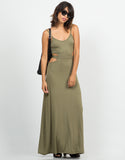 Front View of Cut Out Maxi Dress