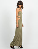 Side View of Cut Out Maxi Dress