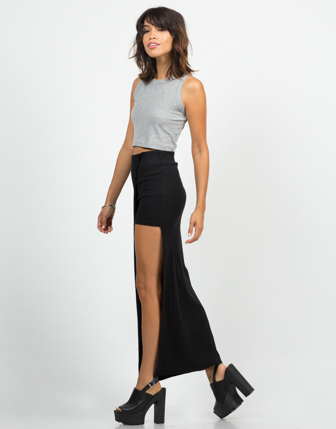 Cut Out Maxi Skirt - 2020AVE
