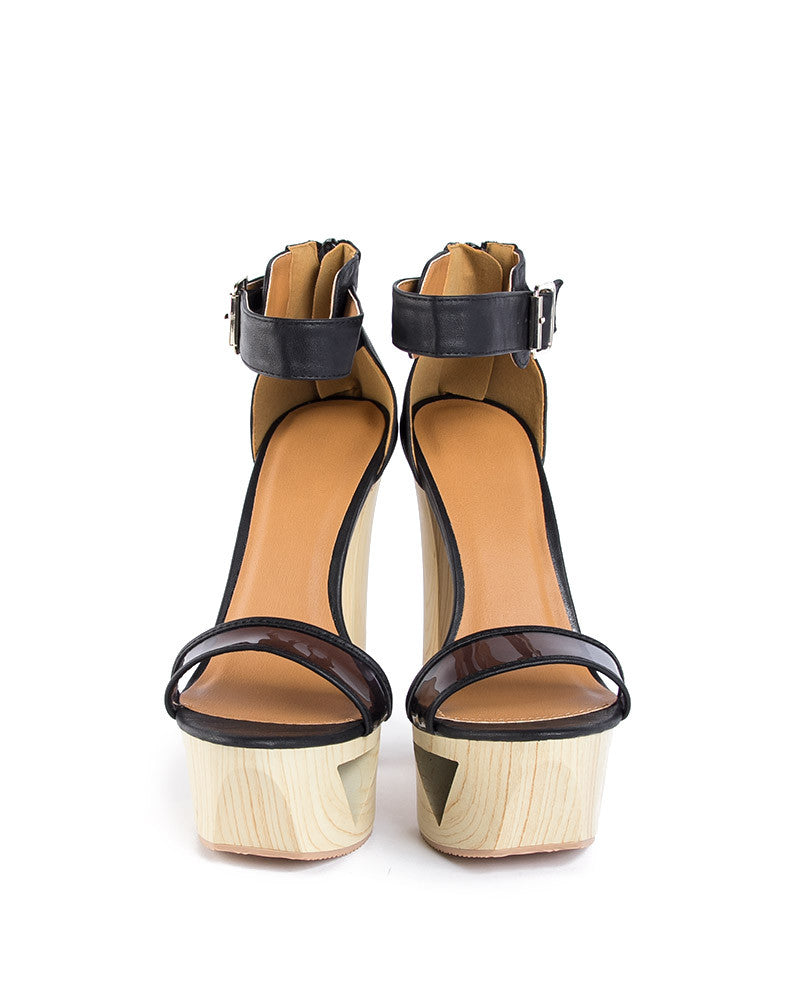 Cut Out Open Toe Sandal - 9