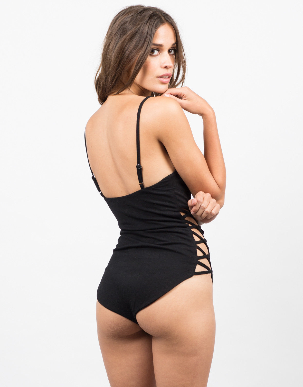 Back View of Cut Out Sides Bodysuit